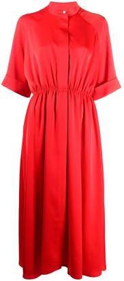 Mulberry Jude stand-collar crepe midi dress