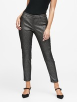 Banana Republic Curvy Sloan Skinny-Fit Metallic Plaid Pant