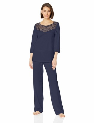 Hanro Women's Malene 3/4 Sleeve Pajama Set