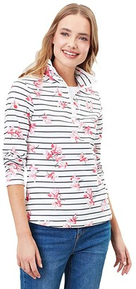 Joules Fairdale Print (Grey Floral Stripe) Women's Clothing