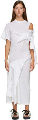 Toga White Drape T-Shirt Dress
