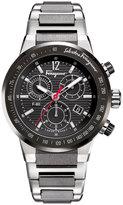 Salvatore Ferragamo 44mm F-80 Men's Chronograph Bracelet Watch, Black