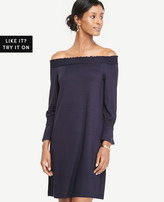 Ann Taylor Smocked Off The Shoulder Dress