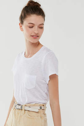 Truly Madly Deeply Crew Neck Pocket Tunic Tee