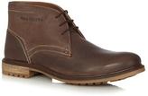 Hush Puppies Dark Brown 'benson Rigby' Leather Chukka Boots