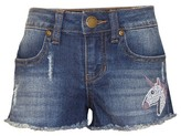 Franki & Jack Girls' Franki & Jack Crystal Trim Denim Shorts - Med Wash