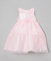 Nannette Light Pink Ruffle Rosette Dress - Infant