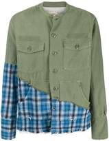 Greg Lauren patchwork button shirt