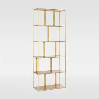 west elm Modern Industrial Bookshelf - Brass