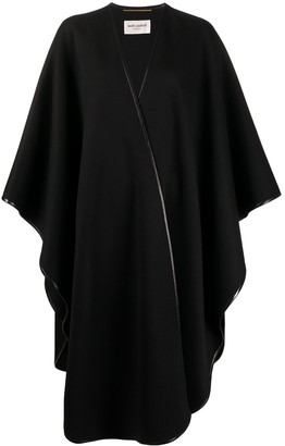 Saint Laurent Oversized Poncho Cape Coat