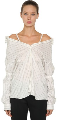 Prada Logo Print Silk Pongee Shirt