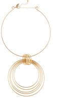 Natasha Accessories Collar Circle Pendant Necklace
