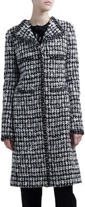 Giambattista Valli Windowpane Tweed Coat