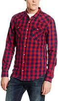 LTB Men's Slim Fit Casual Shirt Multicoloured Mehrfarbig (RED PLAID WASH 4354)