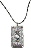 Swarovski Anne Koplik Crystal Art Deco Shield Necklace