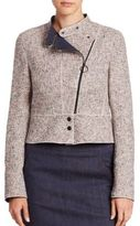 Akris Punto Tweed Biker Jacket