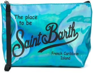 MC2 Saint Barth Light Blue Iridescent Pochette