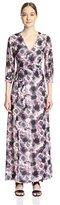 Gracia Women's Floral Print Maxi Wrap Dress