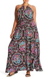 City Chic Folklore Maxi Dress