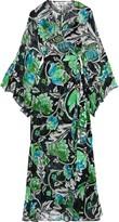 Diane von Furstenberg Lizella Floral-print Silk-georgette Maxi Wrap Dress