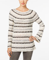 Style&Co. Style & Co. Petite Striped Boat-Neck Sweater, Only at Macy's