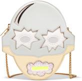 Stella McCartney Glittered faux leather shoulder bag