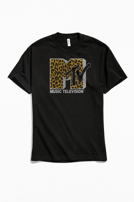 Urban Outfitters MTV Leopard Print Logo Tee