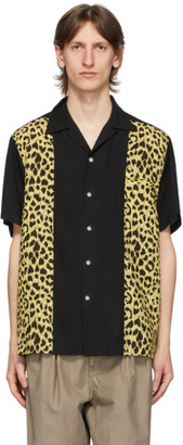 Wacko Maria Black and Beige Two-Tone 50s Shirt