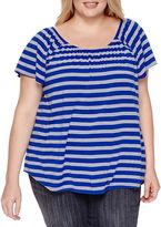 STYLUS Stylus Short Sleeve Round Neck T-Shirt-Womens Plus