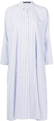 Sofie D'hoore Striped Midi Shirt Dress