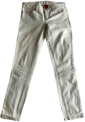 Tory Burch White Cotton Jeans for Women