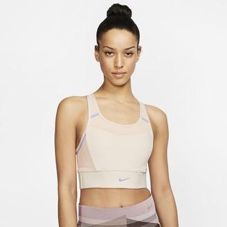 Nike Women's Medium-Support 1-Piece Pad Pocket Sports Bra Swoosh