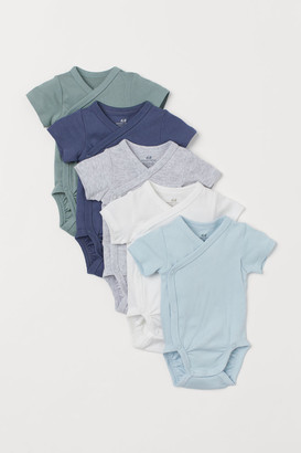 H&M 5-pack Cotton Bodysuits - Turquoise
