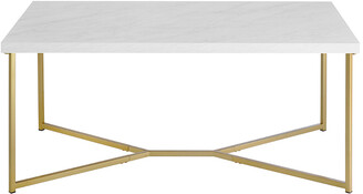 Hewson 42In Glam Faux Marble Coffee Table