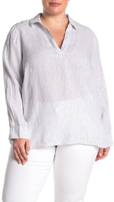 NYDJ Linen Popover Tunic (Plus Size)