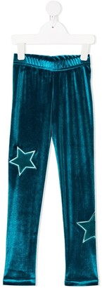 Raspberry Plum Galaxy star-print leggings