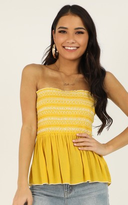 Showpo Shades Of Cool top in yellow - 8 (S) Camis & Tank Tops