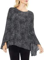 Vince Camuto Texture Dashes Flared Bell-Sleeve Blouse