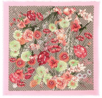 Gucci Spring Bouquet silk-blend scarf