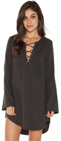 Bella Dahl Bell Sleeve Lace Up Dress in Night Shade