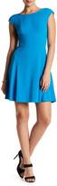 Julia Jordan Textured Cap Sleeve Dress