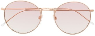 Tommy Hilfiger Pink-Tinted Round Sunglasses