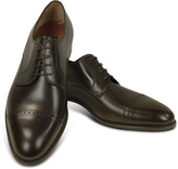 Fratelli Rossetti Dark Brown Calf Leather Cap Toe Oxford Shoes