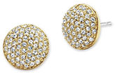 Jenny Packham Goldtone Pave Stud Earrings