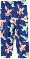 Beary Basics Navy Hummingbird Capri Pants - Toddler & Girls