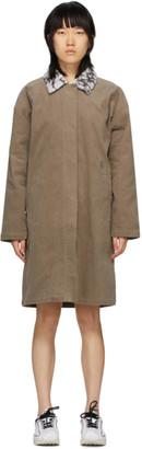 Stussy Taupe Corduroy Long Coat
