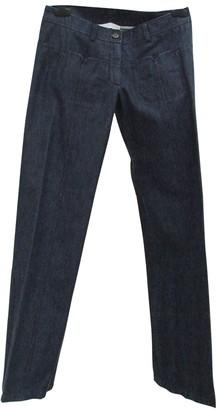 Nicole Farhi Blue Cotton Trousers for Women