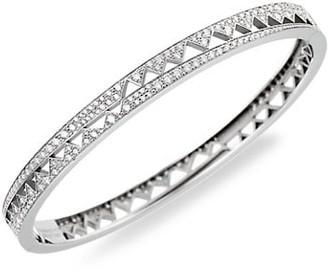 Akillis Capture Me 18K White Gold Diamond Bangle Bracelet