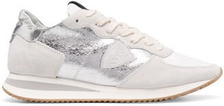 Philippe Model Paris Panelled Trainers With Metallic Detail