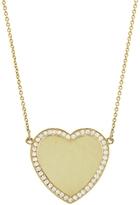 Jennifer Meyer Diamond Border Heart Necklace